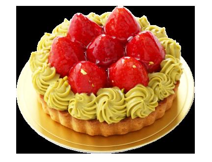 ピスタチオと苺のタルト